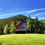 Stunning Hillside Log Home