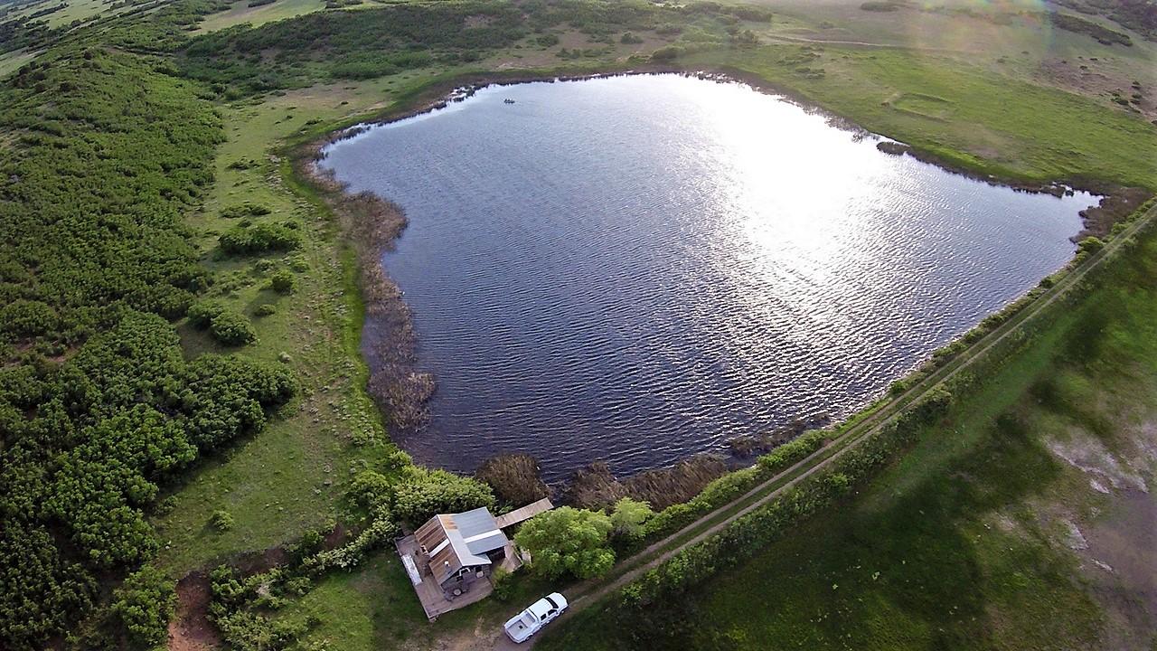 Indian Creek Ranch Lake Property Aerial