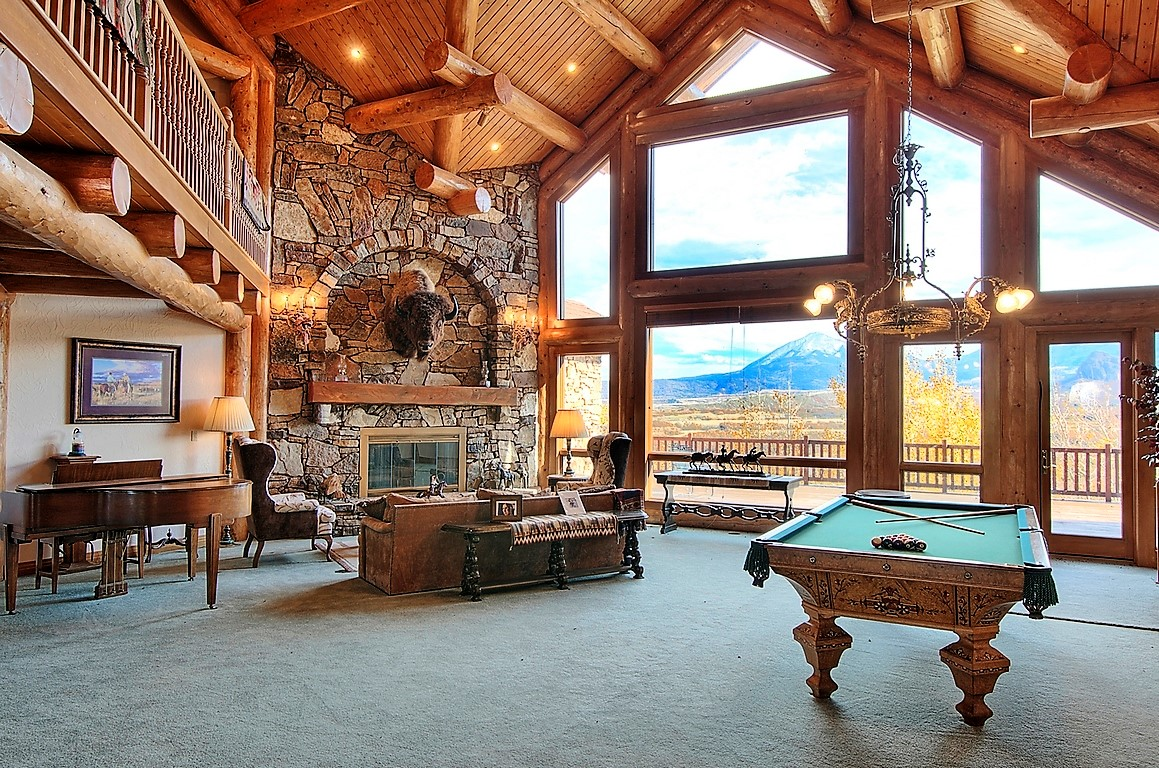 Indian Creek Ranch Living Room with View