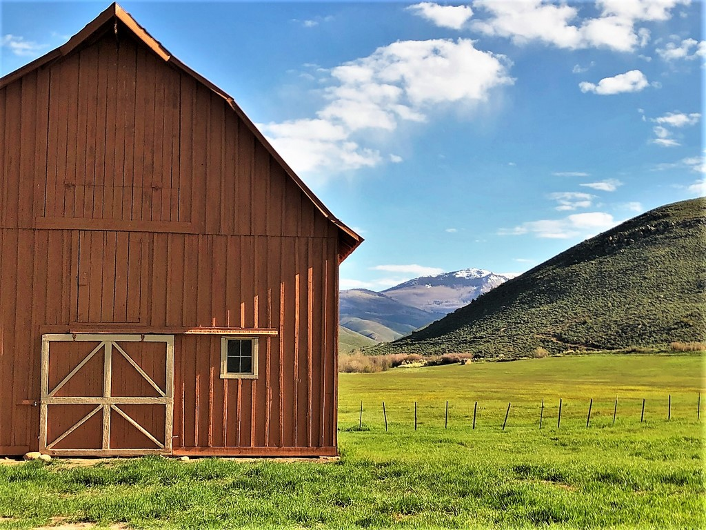 Circle J Ranch Barn with Mountain View