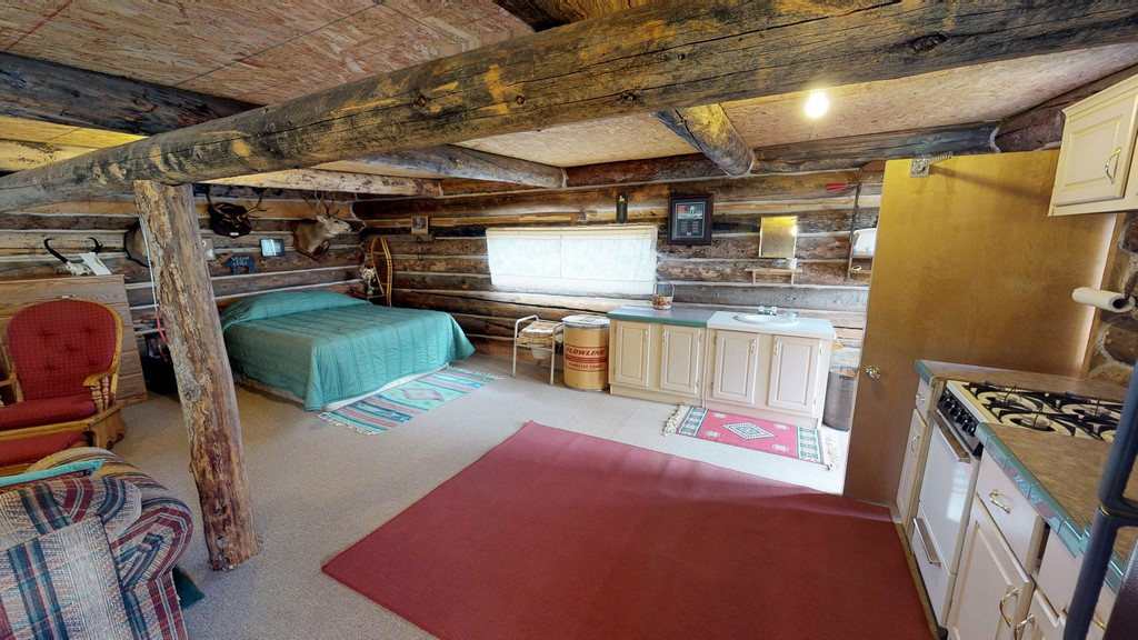 Los Creek Ranch - Guest/Bunkhouse Interior Kitchen & Bed