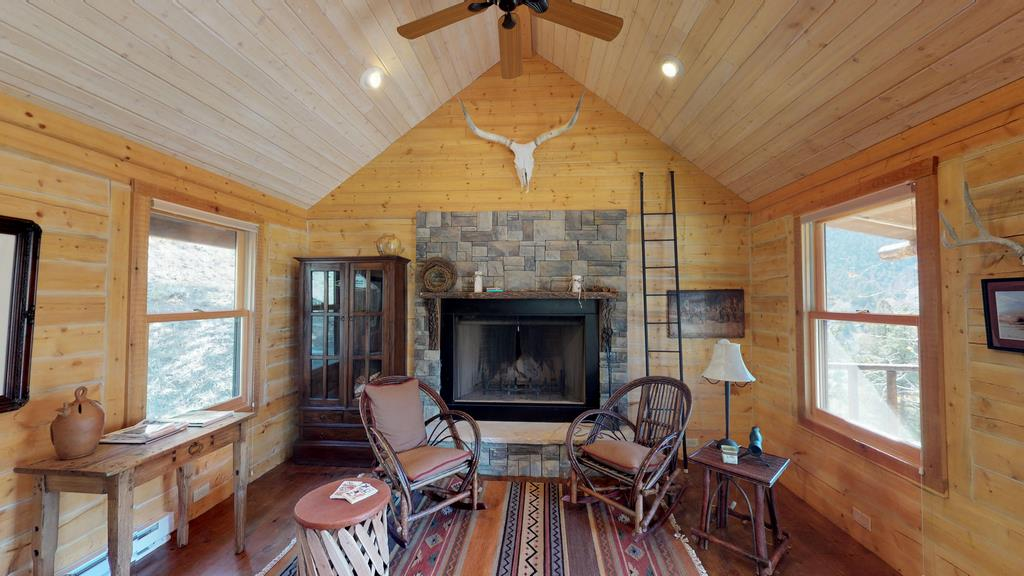 Serenity in the Lake Fork Hunt & Fish Club - Fireplace