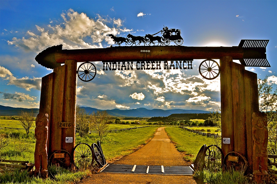 Indian Creek Ranch Entrance